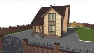 Проект для небольшой семьи уютного одноэтажного дома с мансардой  B-083-ТП