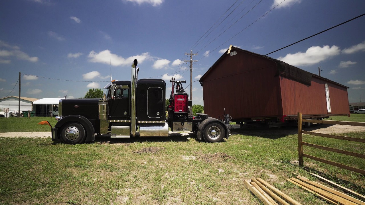 16x50 Shed to House Building Delivered to our Texas Homestead