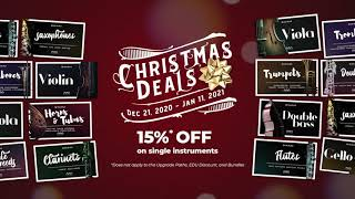 Christmas 2020 Deals - SWAM Instruments 15%OFF until January 11, 2021