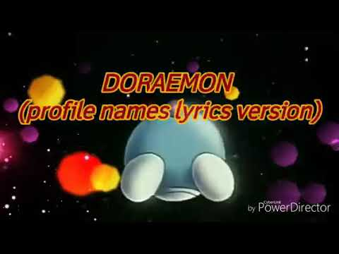 Doraemon -Profile names lyrics