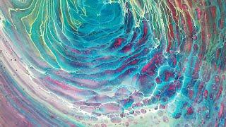 Rainbow Swirl Acrylic Pour