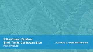 Video Of P/kaufmann Outdoor Shell Trellis Caribbean Blue #103926