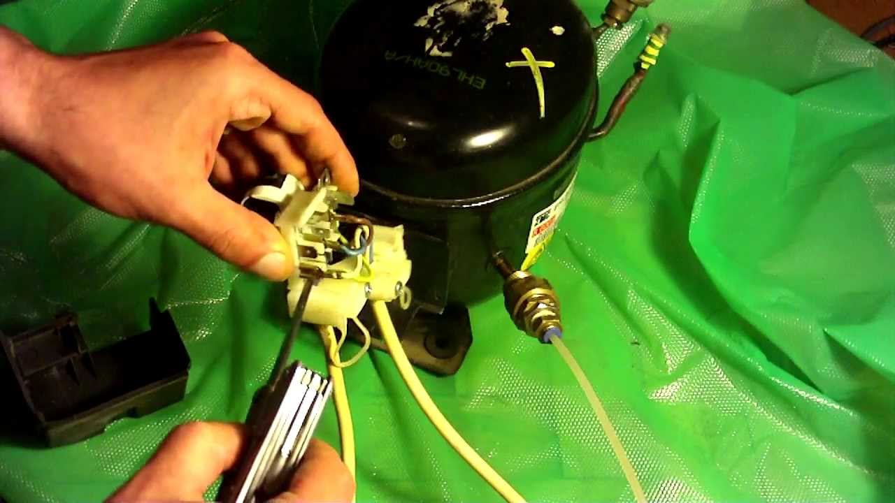 How to wire a fridge pressor  YouTube
