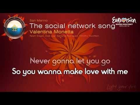 "Valentina Monetta - ""The Social Network Song"" (San Marino) - [Karaoke version]"