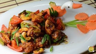Spicy Cashew Chicken Stir Fry  - By Vahchef @ Vahrehvah.com