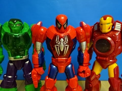 Marvel super hero robots spiderman ironman and hulk - Spiderman ironman and hulk ...