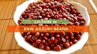 calories in adzuki beans raw adzuki bean soup and stew