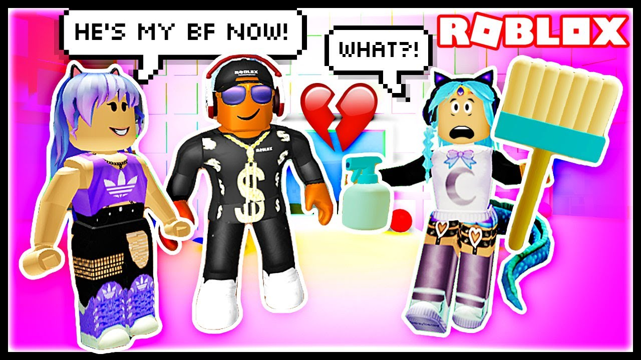 She Tried To Steal My Date At Work Roblox Cleaning Simulator