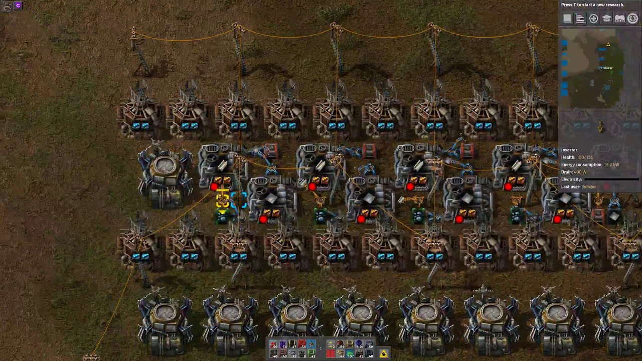 Factorio sandbox: A tale of 3 steel smelters