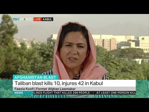 Afghanistan Blast: Fawzia Koofi, Former Afghan Lawmaker