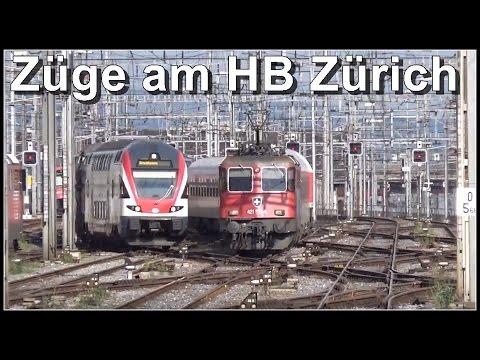 Main Station Zurich, Switzerland / Züge im Hauptbahnhof Zürich, Schweiz 2016