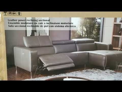 Costco! Leather Power Reclining Sectional (Modern) $1,399!!!