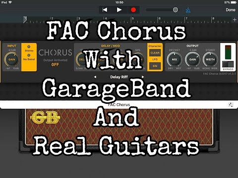FAC Chorus in GarageBand with REAL Guitar & REAL Bass Guitar - Demo for the iPad