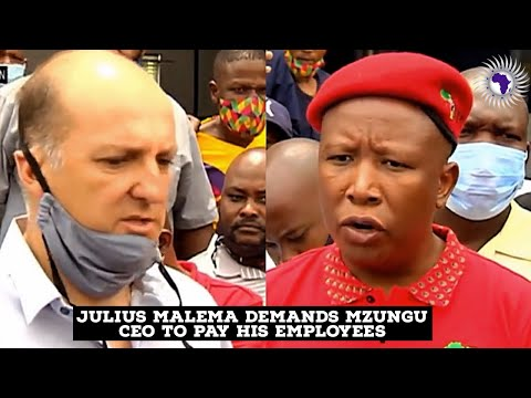 EFF Leader Julius Malema Pays Visit To Mzungu CEO Over Unpaid Covid-19 Relief Funds To His Employees