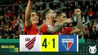 ATHLETICO-PR 4 x 1 FORTALEZA - Melhores Momentos - Brasileirão 2019 (26/09/19)