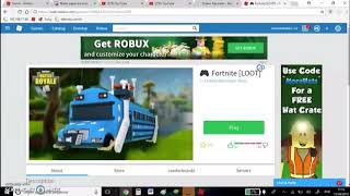 FORTNITE NO ROBLOX DE GRAÇA!! ( Vídeo Editado )