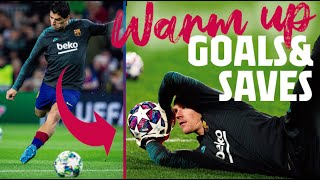 BEST warm up GOALS & SAVES (2019/20 season!)