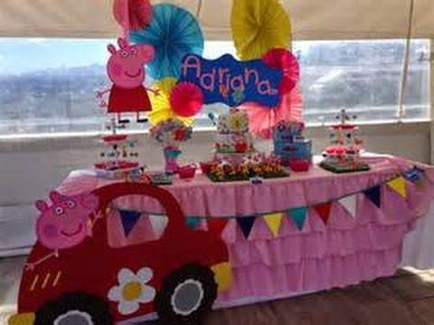 mesa de dulces de peppa pig de 30 ideas youtube