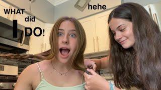 MY BEST FRIEND CUT MY HAIR ?!?!
