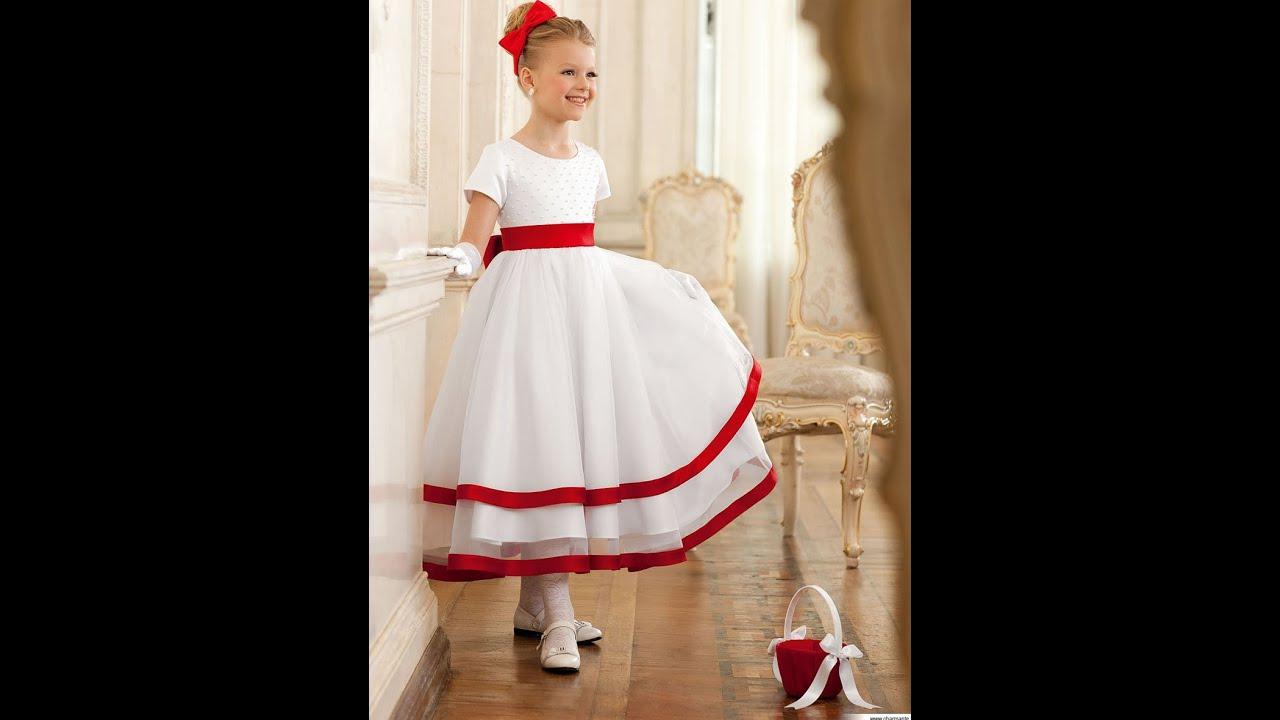 Красивые платья для девочек - YouTube