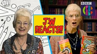 Jacqueline Wilson reacts to Horrible Histories | CBBC