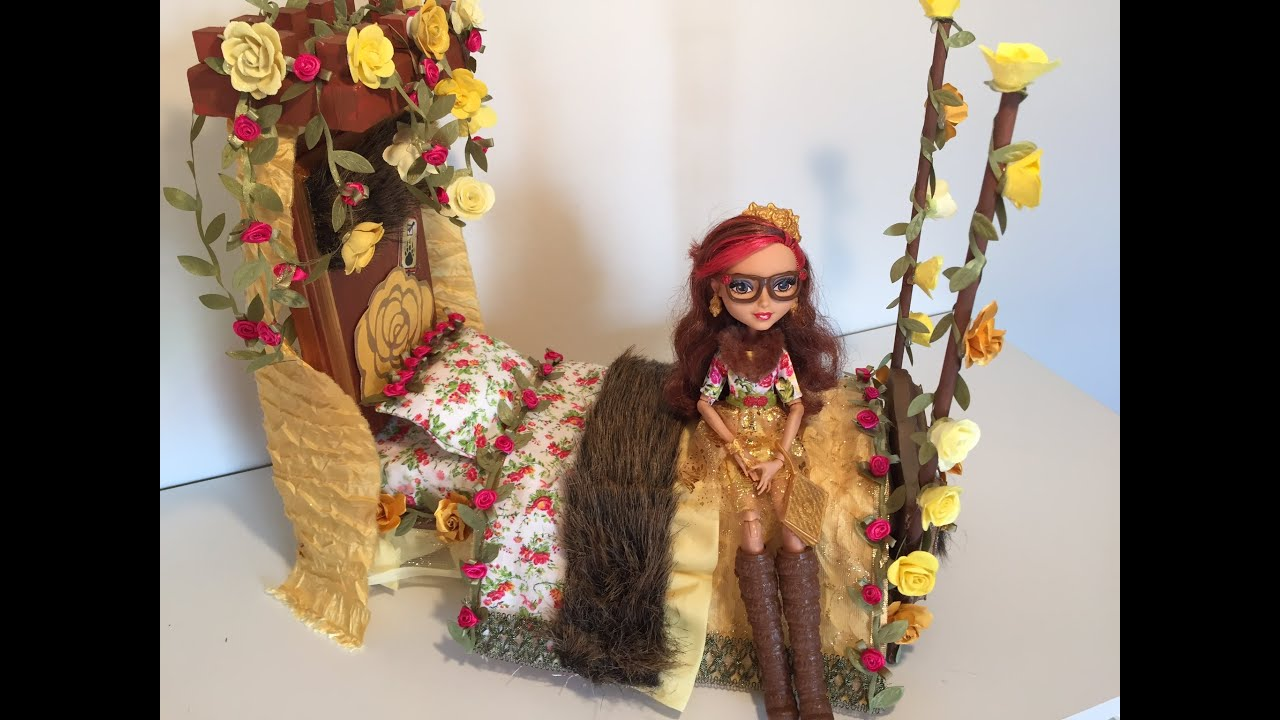 ROSABELLA BEAUTY DOLL BED REMAKE [EVER AFTER HIGH] - YouTube