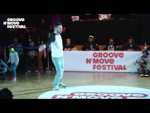 GROOVE'N'MOVE BATTLE 2017 - 1/4 FINAL Popping - Julien vs Mehdi