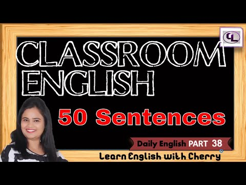 How To Talk In English With Students - Daily English Speaking -  PART 38 - Learn English In Hindi