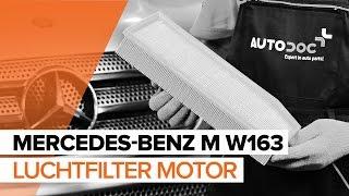 Luchtfilter vervangen MERCEDES-BENZ M-CLASS: werkplaatshandboek