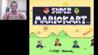 Super Mario Kart - SNES - PARTE 1- Fui pego de surpresa com mais uma corrida !!!!
