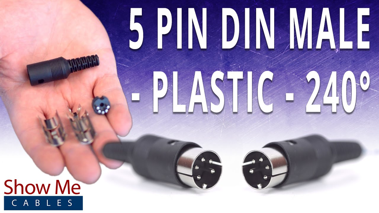 how to install the 5 pin din male solder connector 240 style plastic youtube [ 1280 x 720 Pixel ]