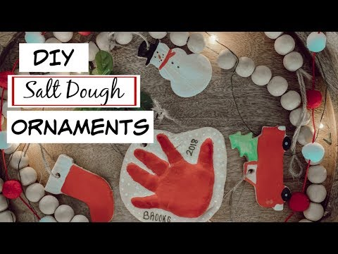 DIY SALT DOUGH CHRISTMAS ORNAMENT   DIY Craft with Toddler   KAILYN CASH NEW