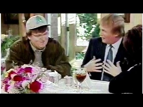 Image result for Trump and Michael Moore Roseanne Show