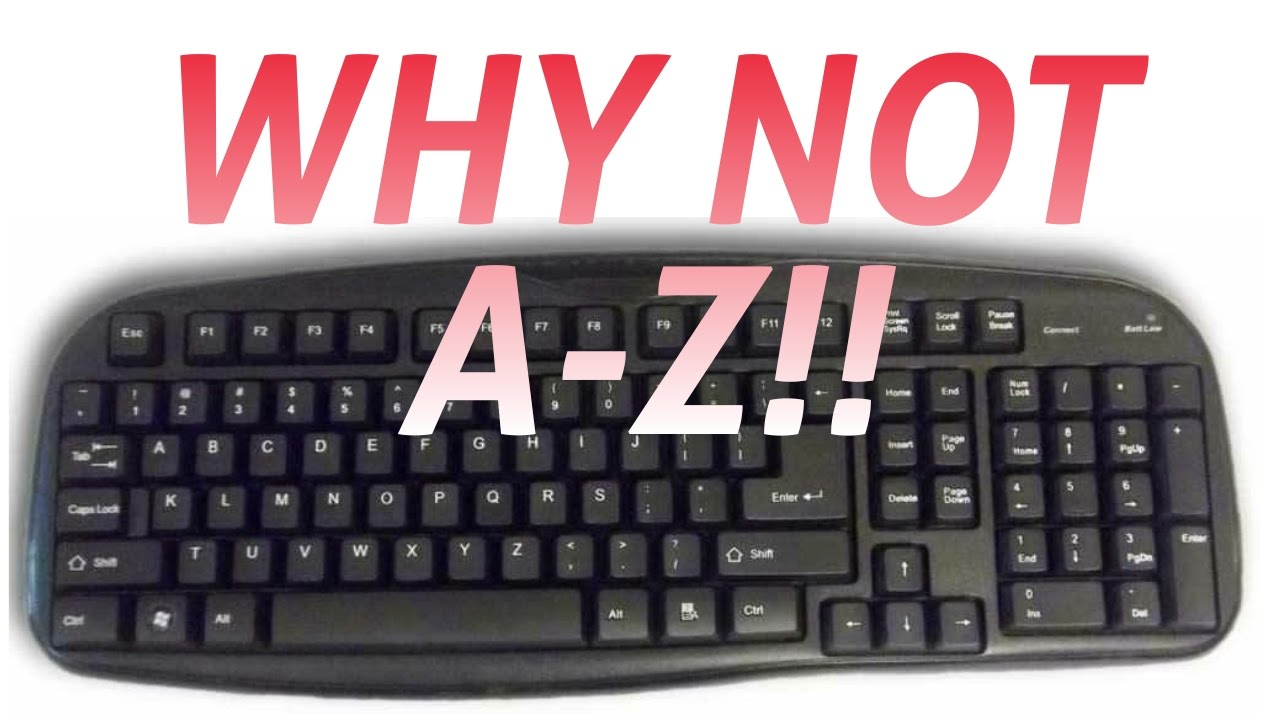 Why Keyboard Keys Arent In Alphabetical Order Tech Shorts Youtube