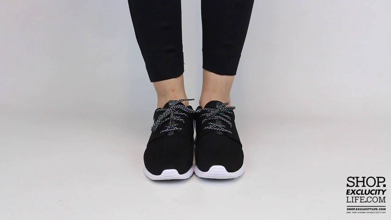 Women s Roshe One Black White On feet Video at Exclucity - YouTube 71ba785b86
