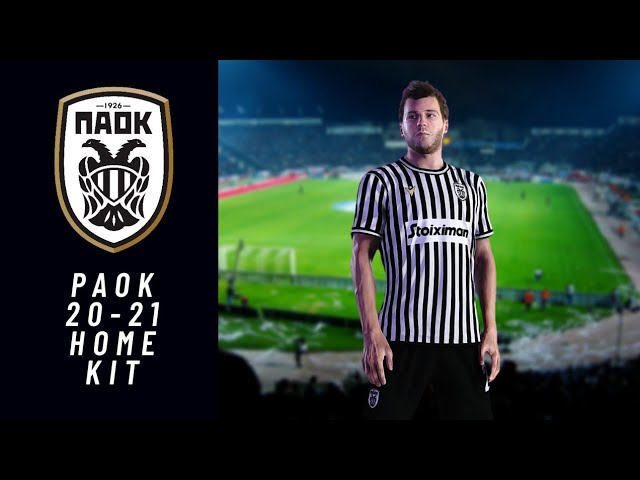 Paok Thessaloniki Fc 2020 21 Official Home Kit Pes 2020 Youtube