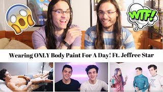 Wearing ONLY Body Paint For A Day! Ft. Jeffree Star I Our Reaction // TwinWorld