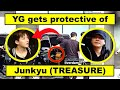 YG himself gets protective of JUNKYU caught on camera  Road to TREASURE featuring YG Family