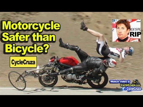 Bicycle vs Motorcycle is Safer? (In Memory of Nicky Hayden)   MotoVlog
