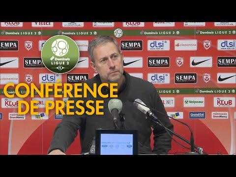 Conférence de presse AS Nancy Lorraine - AJ Auxerre ( 1-0 )  / 2018-19