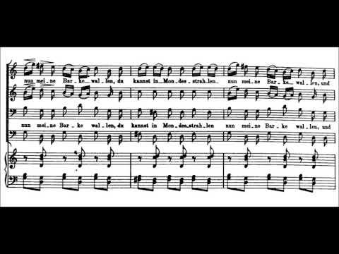 Franz Schubert - Gondelfahrer D. 809 for Male Chorus & Piano (1824)