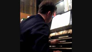 Jonathan Hope: Elgar - Organ Sonata (1st mvmt) at Southwark Cathedral, London