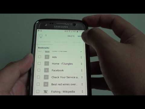 Samsung Galaxy S7: How to Move Bookmark Links In / Out of Folder