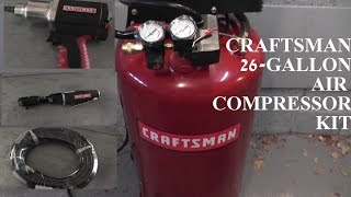 Craftsman 26 Gallon Air Compressor WITH TOOL KIT! HD