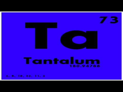 Study Guide 73 Tantalum Periodic Table Of Elements Youtube
