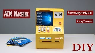 How to make  ATM machine at home || DIY strong security ATM booth