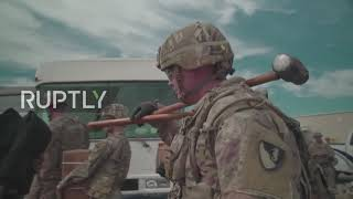 USA: Troops lay barbed wire at Mexican border under Operation Faithful Patriot