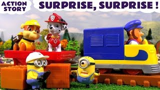 paw patrol surprise rescue with minions nickelodeon mashems series 2 and toy train railway tt4u