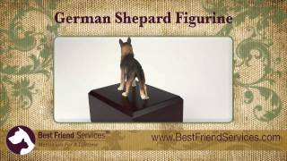 German Shepherd Figurine Urn