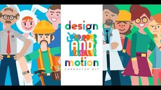 Design and Motion Character Kit | After Effects template